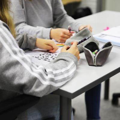 Eskolanmäen koulun oppitunti Kouvolassa.