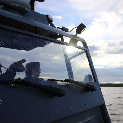 Merivartiosto valvontatehtävissä Perämerellä Oulun edustalla.