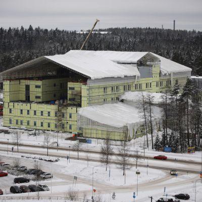 Ratamon sairaalan työmää Kouvolassa.