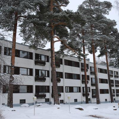 Alvar Aallon sunnittelmia kerrostaloja Sunilassa, Kotkassa.