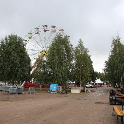 Maailmanpyörä Simerock-festivaalialueella