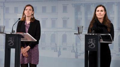 Sanna Marin och Li Andersson