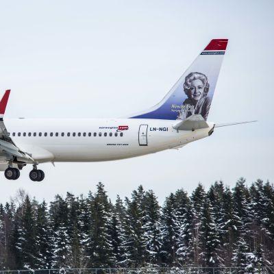 Norwegianin lentokone.