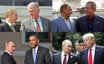 USA:s presidenter och Vladimir Putin