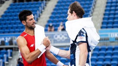 Novak Djokovic och Andy Murray.