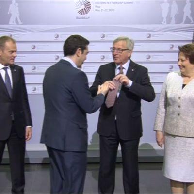 Juncker Riian huippukokouksessa 2015