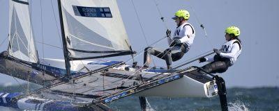 Akseli Keskinen ja Sinem Kurtbay purjehtivat Tokion olympiakisoissa.