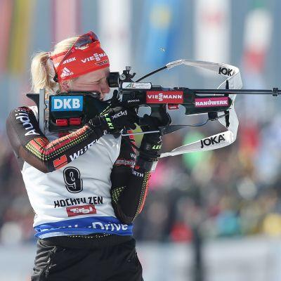 Franziska Hildebrand på skjutvallen