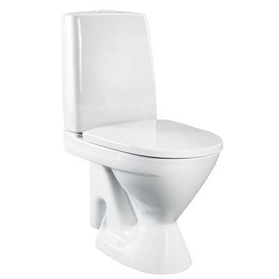 Vit wc-skål i porslin.§