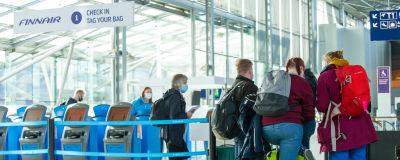 Helsinki-Vantaa lentoasema. 26.3.2021