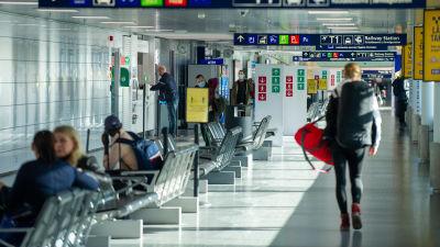 Helsingfors-Vanda flygplats i mars 2021.