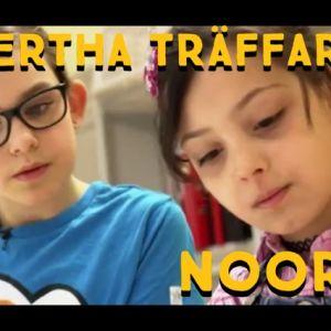 Tioåriga Noor från Irak har lätt att lära sig finska.