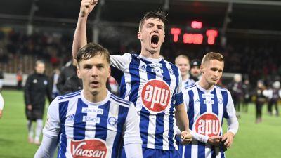HJK firar derbyseger.