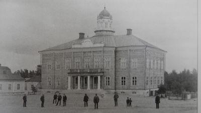 Rådhuset i Jakobstad före ombyggnaden, cirka 1890