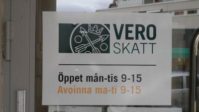 Skattebyrån i Jakobstad håller öppet bara en dag i veckan från februari 2016