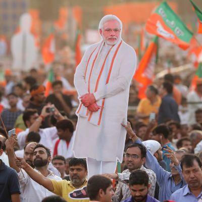 Premiärminister Narendra Modi ser ut att få förnyat förtroende efter fem år vid makten