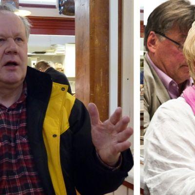 Kansanedustajat Seppo  Kääriäinen ja Anu Vehviläinen