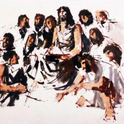Jeesus ja opetuslapset Sergio Bramanten tulkitsemana.