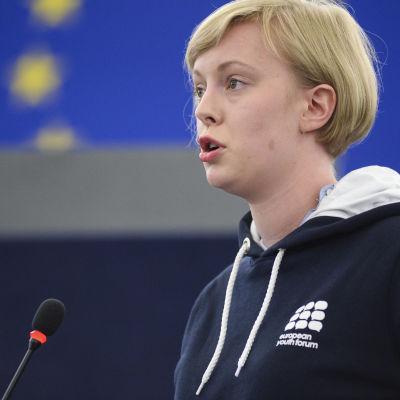Johanna Nyman är nyvald ordförande för det Europeiska Ungdomsforumet.