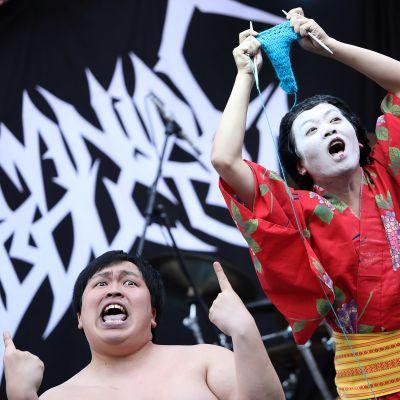 Det japanska laget i världsmästerskapen i hårdrocksstickning, Giga Body Metal.