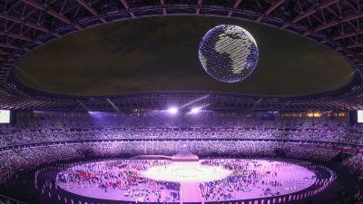 Bild från invigningen av sommar-OS i Tokyo.