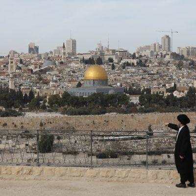 Jerusalems gamla stad med Tempelberget