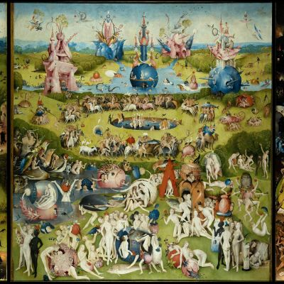 Hieronymus Boschin teos Maallisten ilojen puutarha