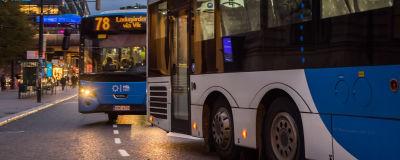 Bussar i Helsingfors.