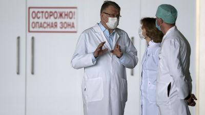 Läkare på sjukhuset Krasnogorsk i Moskva, Ryssland