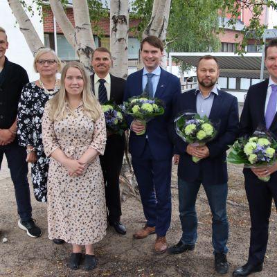 Rovaniemen kaupunginvaltuuston kauden 2021-2025 puheenjohtajat.