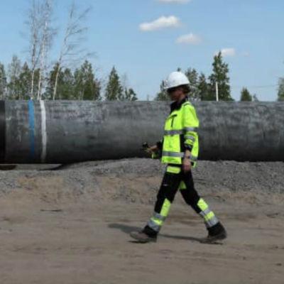 Arbeten på Nord Stream 2 i ryska Kingisepp i juni.