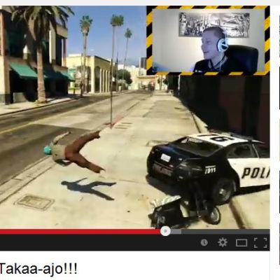 Joensuulainen Aleksi Koli selostaa GTA-pelin kulkua Youtubessa.