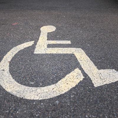 Parkeringsruta för personer med rörelsehinder