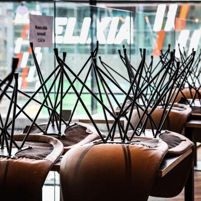Kahvila suljettu kokonaan poikkeusolojen vuoksi.