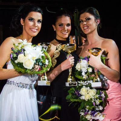 Miss Mikkeli 2013 kisan voittajakolmikko Riina Engström, Minna Nevanoja ja Marika Hongisto
