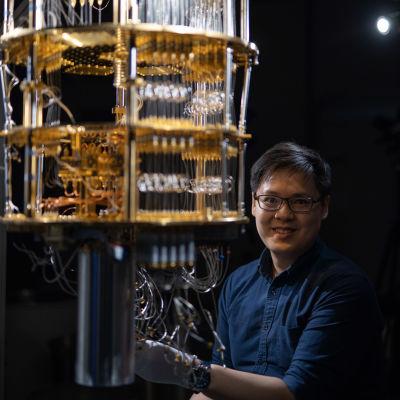 En kvantdator (en prototyp).