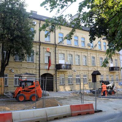 Kiinan lähetystö Vilnassa.