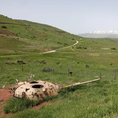 Hermonberget i Golanhöjderna.
