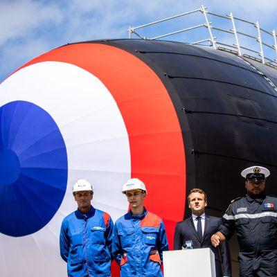 Frankrikes president Emmanuel Macron sjösatte i fjol somras ubåten Suffren, en av landets fyra kärnvapenbestyckade ubåtar.