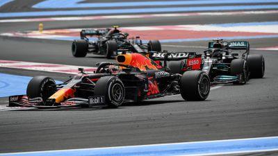 Verstappen, Hamilton och Bottas kör i Frankrike.