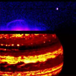 Jupiteria eri aallonpituuksilla kuvattuna