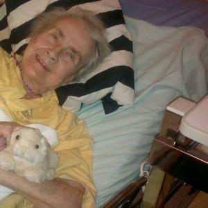Birgitta på sjukhus i november 2012