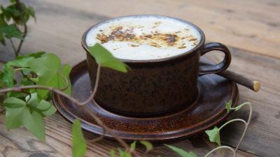 En Lakuccino med gräddmjölk