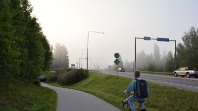 I bakgrunden syns Österbykorsningen i Ekenäs.