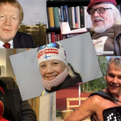 Perttu Vartiainen, Heikki Turunen, Kaisa Mäkäräinen, Tuomas Holopainen ja Pekka Räty.