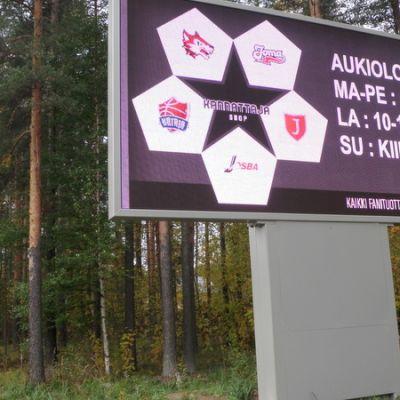Valomainostaulu Joensuussa Kajaanintiellä.
