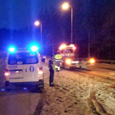 Liikenneonnettomuus Kuopion moottoritiellä