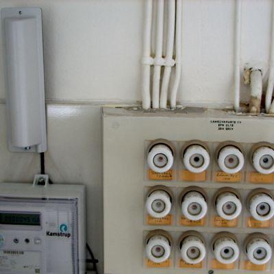Etäluettava sähkömittari.