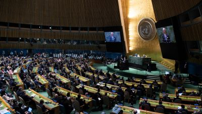 Joe Biden talar inför FN:s generalförsamling 21.9.2021