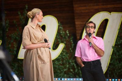 Sanna Nielsen och Benjamin Ingrosso på Sollidenscenen